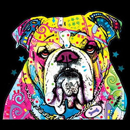 The Bulldog Canvas Tasche for Ladies, Farbe Schwarz, Pop Art Style