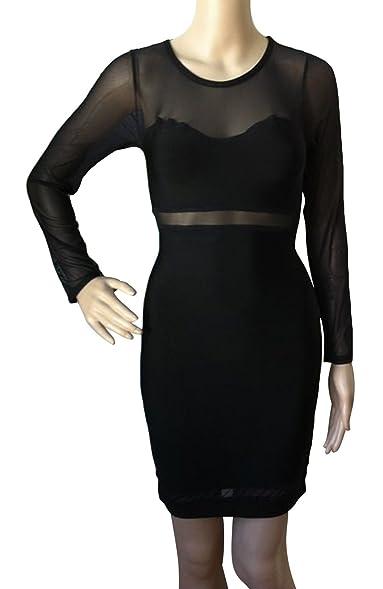Kleid langarm transparent