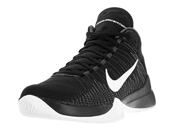 watch 0173a c2616 Nike Zoom Ascention Men s Basketball Shoe Black/White ...