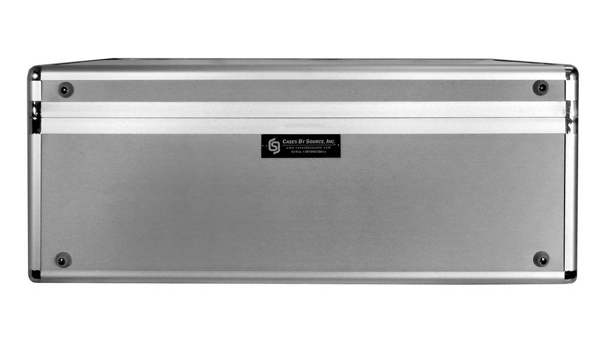 Cases By Source SV22168 Smooth Silver Aluminum Case with Foam, 22 x 16 x 8 by Cases By Source