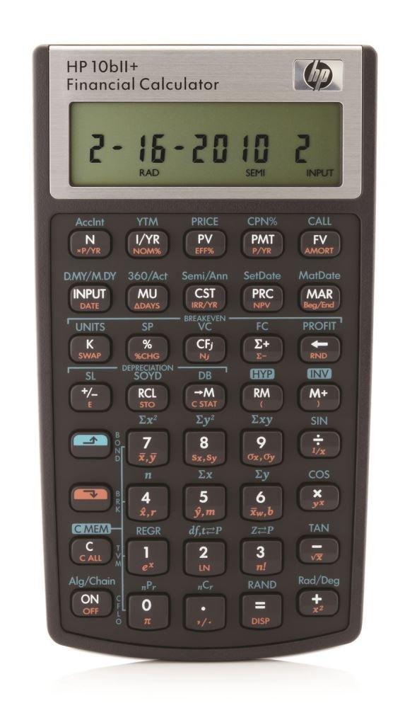 HP HP10bII+ - Calcolatrice finanziaria Hewlett Packard HP-10BIIPLUS/B12
