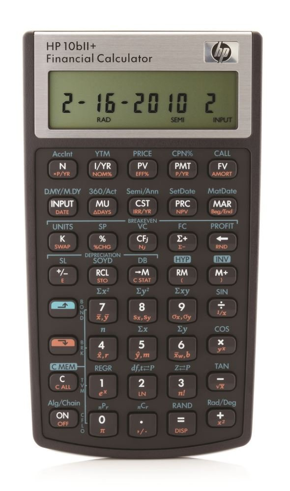 HP 10BIIPLUS/B12 Financial Calculator, Black