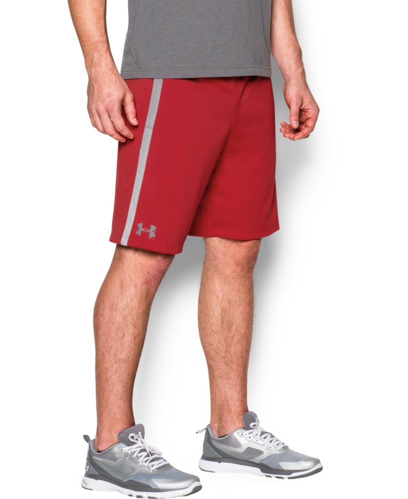 Under Armour Men's Tech Mesh Shorts, Red (600)/Steel, X-Small