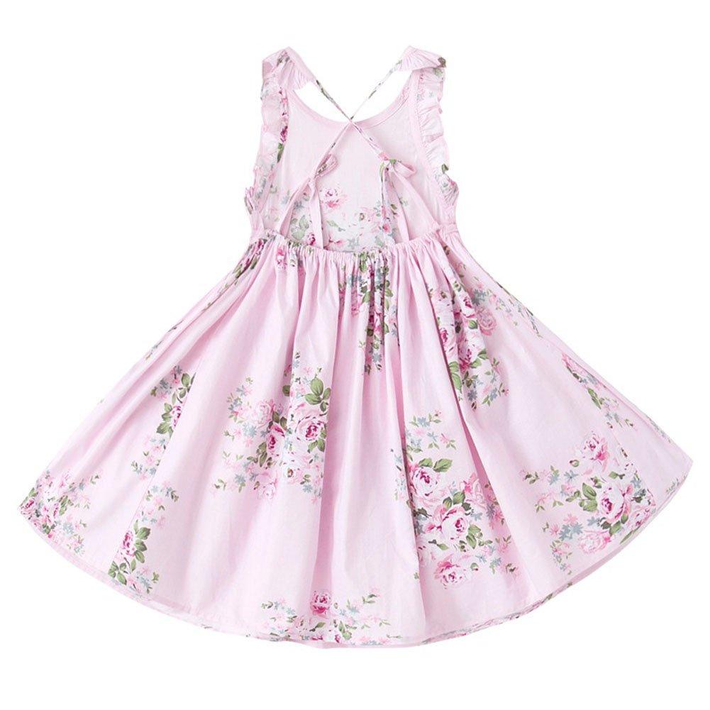 Merryway 12 Vestido para Niña con Diseño Rosado de Floral Clásico ...