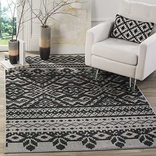 Safavieh Adirondack Collection ADR107A Silver and Black Rustic Bohemian Area Rug (9' x 12') by Safavieh (Image #3)