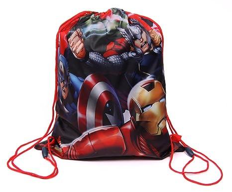 4cbacdc40ef9 IMTD Boys Kids Marvel Comics Superhero Spiderman Captain America Hulk  Avengers Drawstring Bag Swimming PE Bag  Amazon.co.uk  Clothing