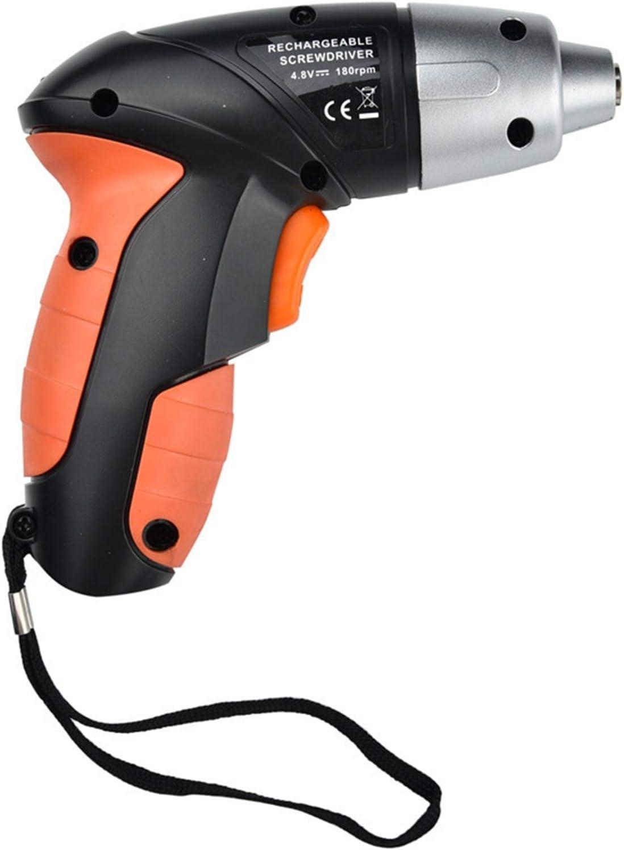 25pcs 4.8v Destornillador Eléctrico Cargado Mini Tech Drill Sin Cable Multifucional LI Batería (Color : Orange)