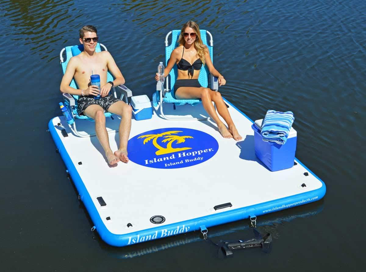 Island Hopper Island Buddy Inflatable Swimming Water Platform by Island Hopper