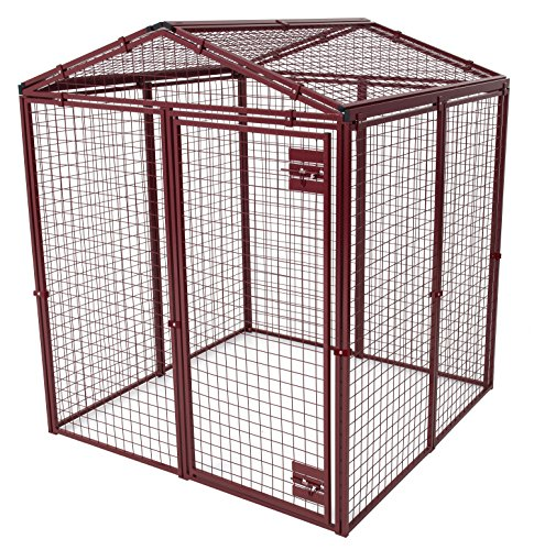 Animal House Heavy Duty Gable Covered Protective Pet Kennel (6.2'Hx5'Lx5'W) 128.2 lbs