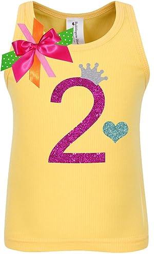 Bubblegum Divas Little Girls 2nd BirthdayYellow Princess Heart Shirt 3