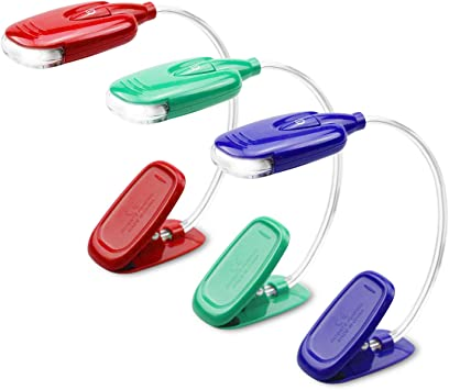 Mini LED Small Clip Book Light Reading Light Can Be Twisted Small Night Light