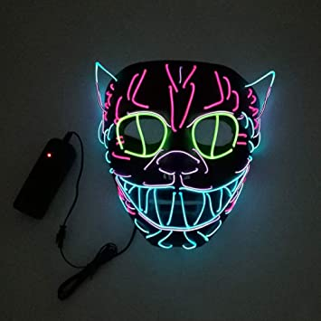 Rocer Máscara Iluminadora De Luz Fría Helloween El, Fiesta Celebración De La Danza Festival Suministros