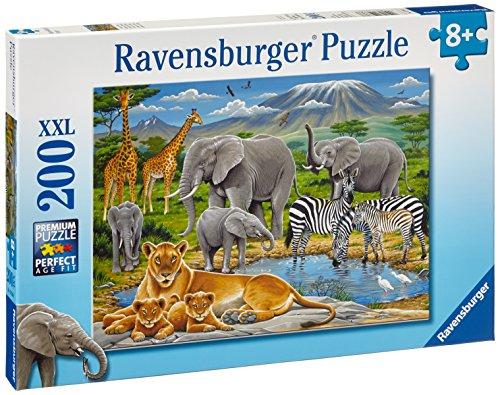 Ravensburger - 12736 - Puzzle Enfant Classique - Animaux D'Afrique - 200 Pièces XXL