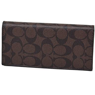 Amazon Com Coach Men S Breast Pocket Signature Pvc Wallet 75013