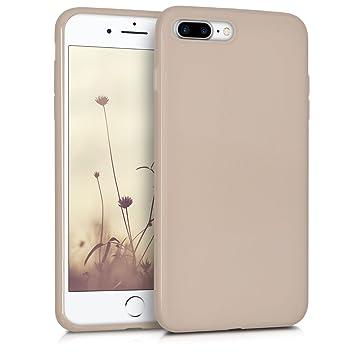 kwmobile Funda para Apple iPhone 7 Plus / 8 Plus - Carcasa para móvil en TPU silicona - Protector trasero en beige mate