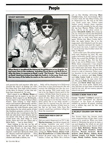 Hank Williams Jr Ruth Buzzi original 1pg 8x10 clipping magazine photo #S1693