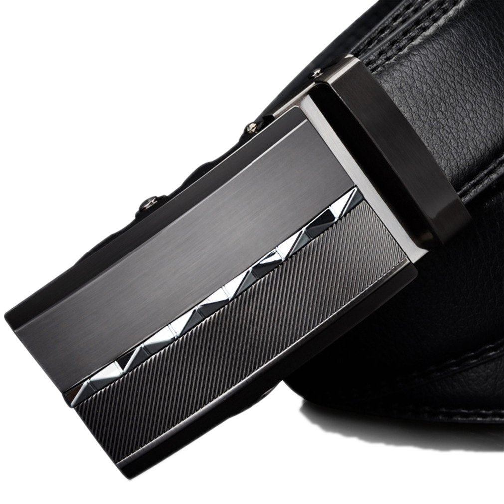 IJKXLK Leather Men Belts For Men For Business Automatic Alloy Buckle Casual Business CZ027 120cm