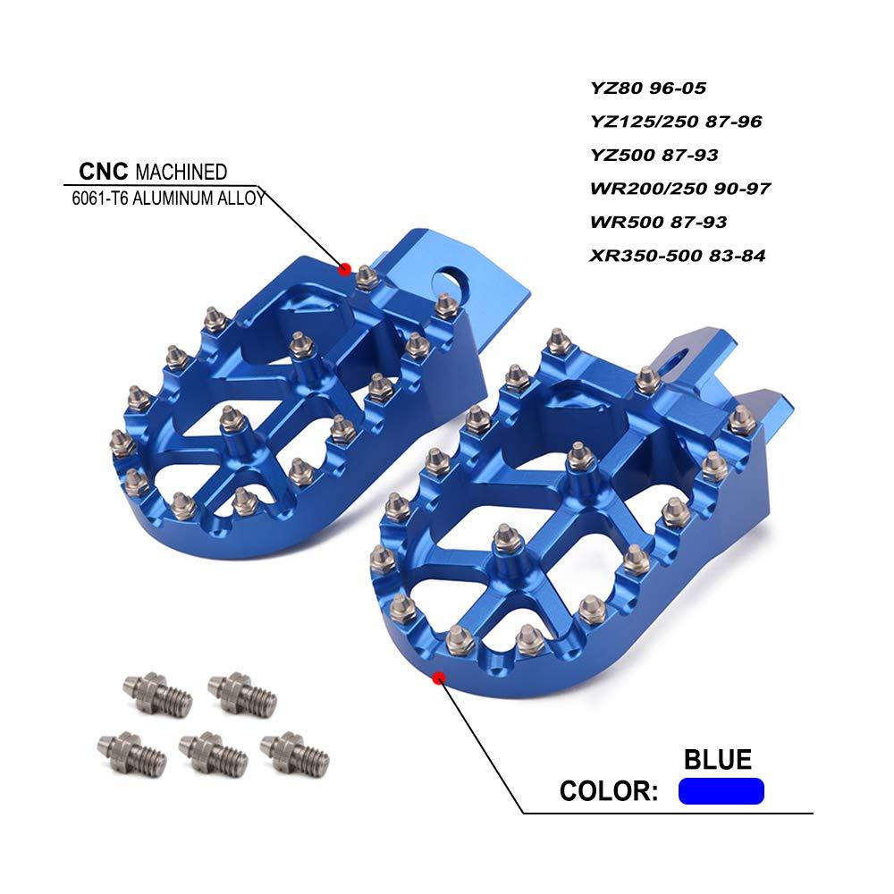 Billet MX Wide Foot Pegs Pedals Rests - Honda CR125 CR250 02-07 CRF250R CRF250X 04-17 CRF450R 02-17 CRF450RX 17 CRF450X 05-17 CRF250L CRF250M 12-16 Fast Pro