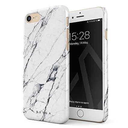 Amazon.com: burga iPhone 7 Caso, mármol y dorado ónice negro ...