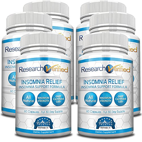 Research Verified Insomnia Relief - The Best Insomnia Relief Supplement on the Market - With L-Ornithine, Melatonin and Valerian for insomnia relief and sleep quality improvement - 6 Months Supply by Research Verified