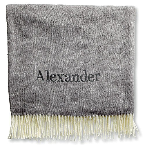 Personalized Navy Blanket with Name by Lillian Vernon (Throw Vernon)