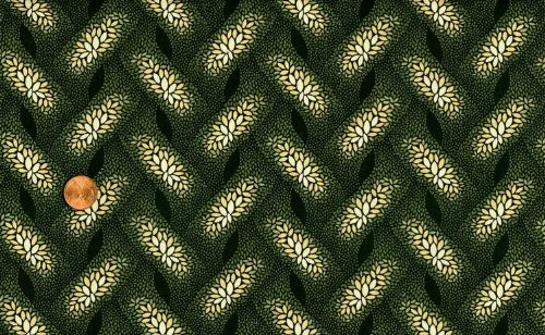 Marcus Brothers Graceful Woven Floral Vines on Black Cotton Fabric By the Yard ()