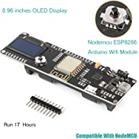MakerHawk Nodemcu ESP8266 OLED Arduino WiFi Module 0.96 inches Display ESP8266 18650 5-12V 500mA Compatible with NodeMCU