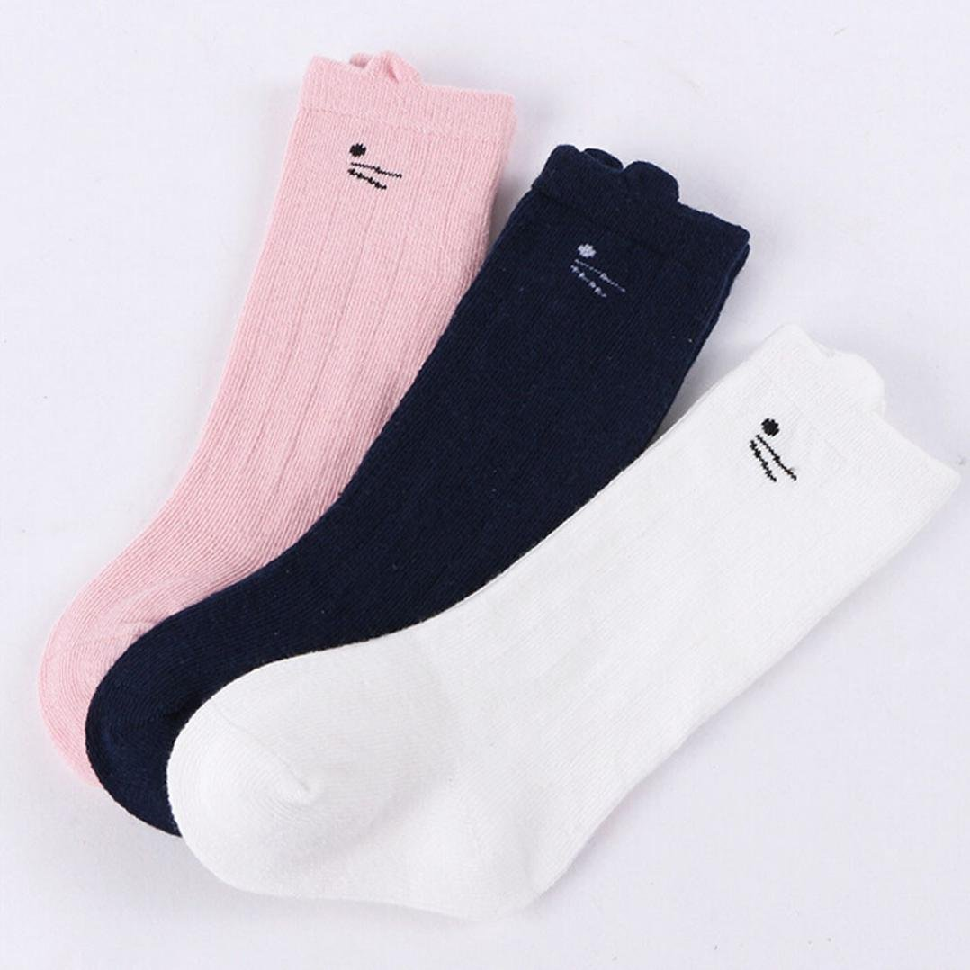 Baby Girls Boys 3 Pairs Cute Cartoon Cotton Warm Socks Digood Suit for 0-4 Years Old