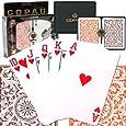 Copag Poker Size Regular Index - Orange and Brown Setup Playing Cards (Multi)