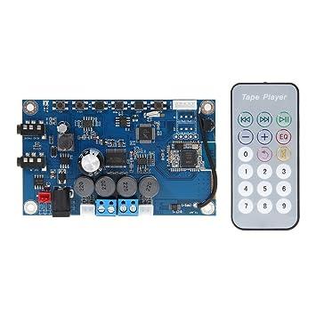 H HILABEE 4.1 Tarjeta Inalámbrica De Audio Amplificador De Radio FM con Control Remoto 30wx2: Amazon.es: Electrónica