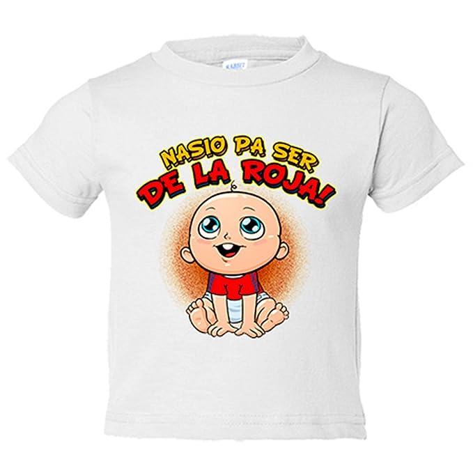 Camiseta niño nacido para ser de La Roja España fútbol - Amarillo, 3-4 años: Amazon.es: Bebé