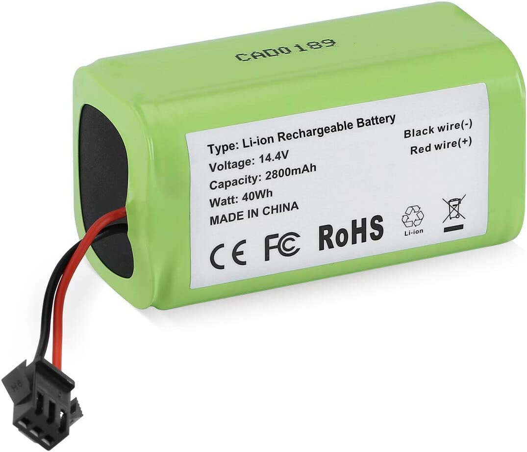 Upgraded 14.4v 2800mAh Li-ion Rechargeable Replacement Battery Compatible with Eufy RoboVac 11, 11S,11S MAX, 30, 15C, 15T, 12, 35C, Ecovacs Deebot N79S, DN622