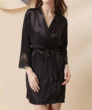 WX Pijamas Señoras Tentación Extrema Vestido De Noche De Gran Tamaño, Ropa Interior De Seda