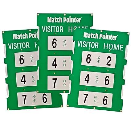 Partido Puntero Tenis Marcador portátil 3 Value Pack Verde ...