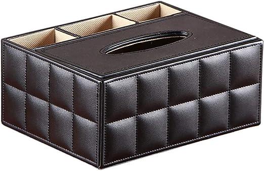 SUPVOX - Soporte para caja de pañuelos faciales con mando a distancia, organizador de cubos, contenedor para encimeras de oficina en casa: Amazon.es: Hogar