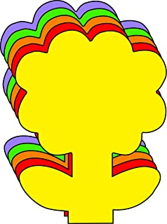 "product image for Flower Small Assorted Color Creative Cut-Outs, 3"" x 3"", 31 Flower Cutouts to a Package"
