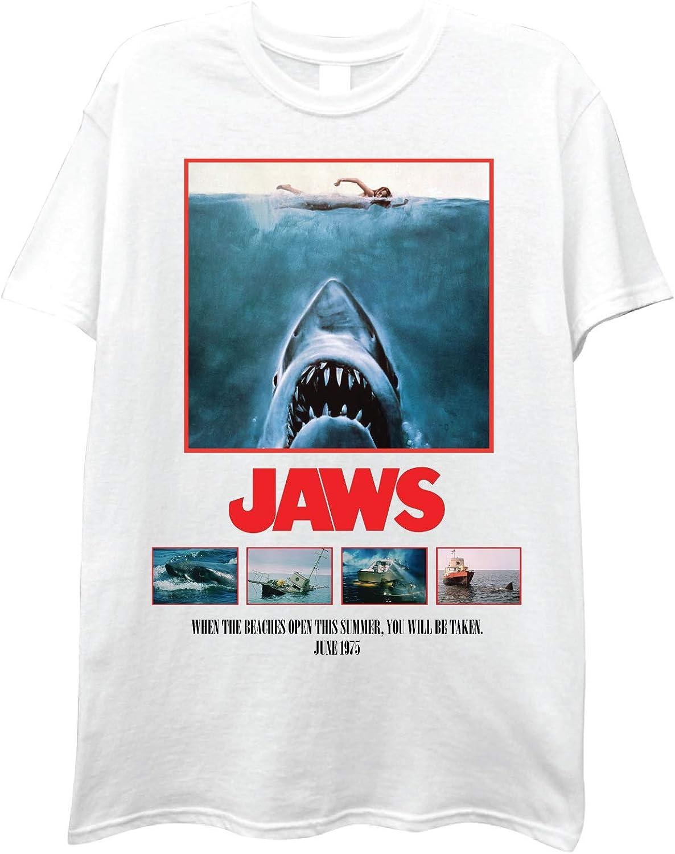 JAWS Mens Shark Movie Shirt The Movie Short Sleeve Tee