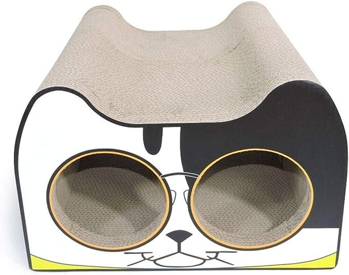 Yyqx Jaula Mascota Cat Catching Board Toy Pet Cat Supplies Papel Corrugado Cat Claw Plate Resistente al Desgaste Pet Nest Jaula para pájaros