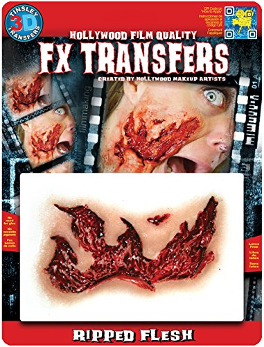 Halloween Makeup Ripped Skin (Tinsley Transfers 3D FX Transfers MD Ripped)