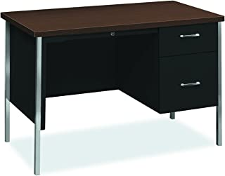 "product image for HON 34000 Series Small Office Desk - Right Pedestal Desk with File Drawer, 45-1/4""W, Mocha & Black (H34000)"
