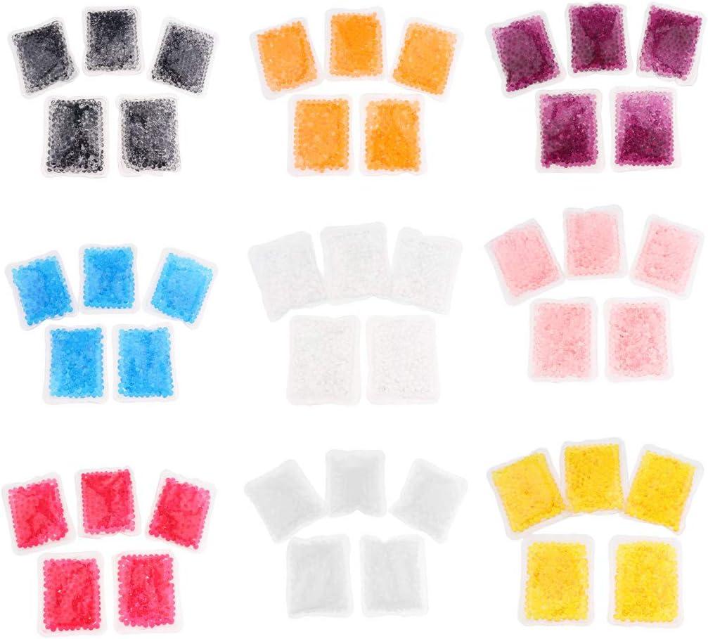 Bonarty 5pcs Wiederverwendbare Gelperlen W/ärme K/älte Pack Freezable Microwavable Maske Orange
