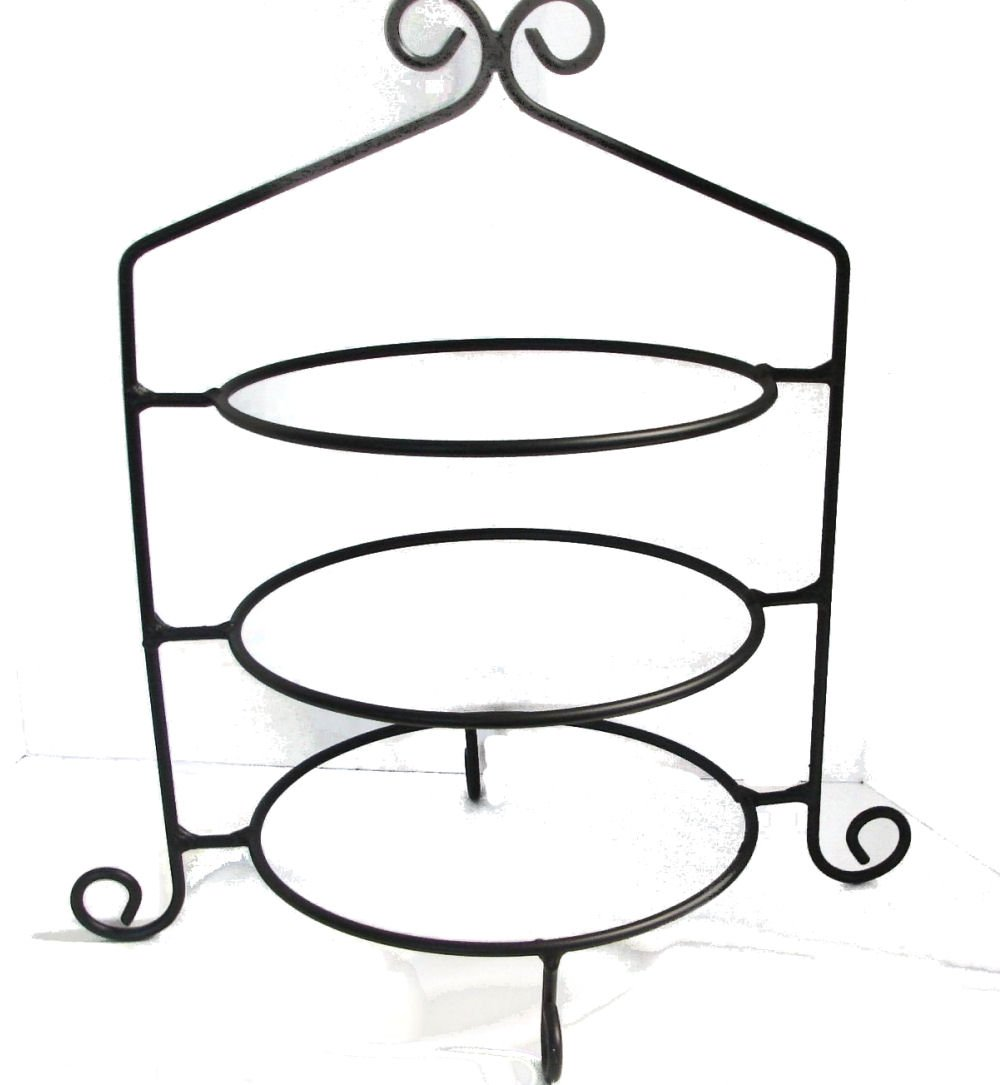 Wrought Iron Pie Stand/Rack Triple Tier Hand Made