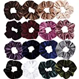 Hapdoo 16 Pack Velvet ScrunchiesHair Ties Scrunchy for Hair Women Elastic Hair Ropes Scrunchies