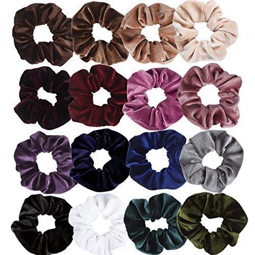 Hapdoo 16 Pack Velvet ScrunchiesHair Ties Scrunchy for Hair Women Elastic Hair Ropes Scrunchies by Hapdoo