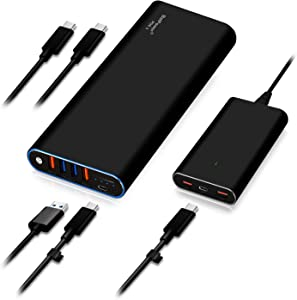 BatPower 56000mAh PD 90W with 120W PD Charger, Power Delivery External Battery Power Bank Portable Charger Bundle for USB C HP Spectre 360 Razer Blade Stealth Pro Dell XPS 15 13 Lenovo Laptop NoteBook
