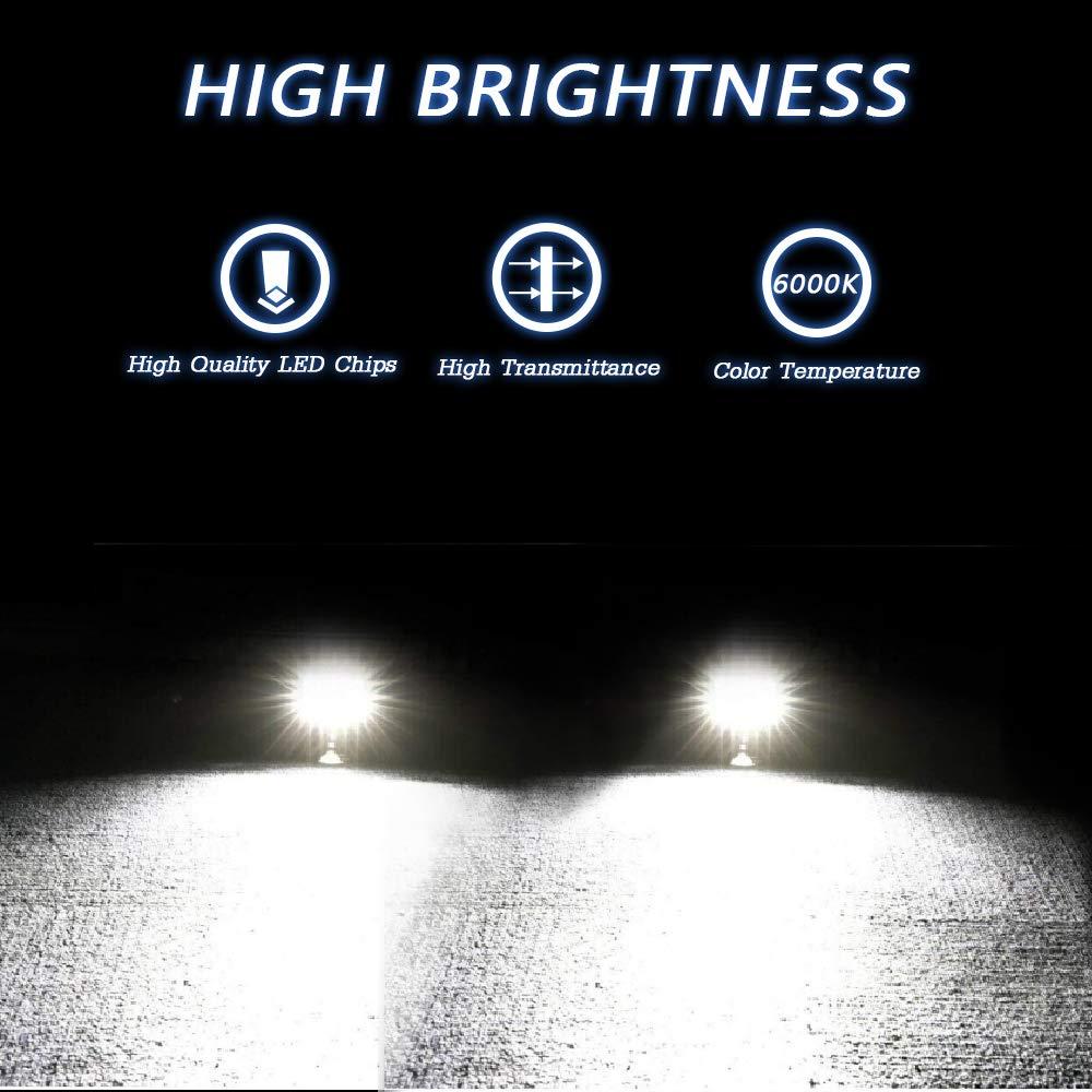 LED Pods,TURBOSII 2Pcs 4Inch QUAD Row LED Light Bar Work Light Spot Beam Super Bright Offroad Driving Fog lights Waterproof IP67 LED Cubes for Truck Jeep Boat ATV UTV 12-24V,1 Year Warranty