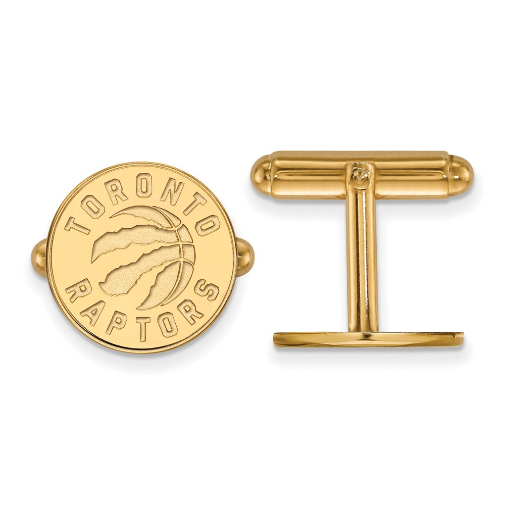 NBA 14k Yellow Gold Plated Sterling Silver Toronto Raptors Cuff Links by LogoArt