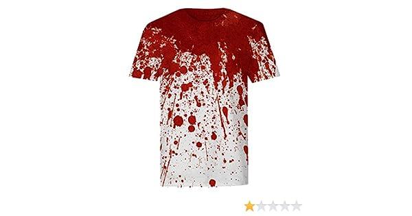 b6667965 Amazon.com: The T-Shirt Factory Mens Bloody Neck T-Shirt: Clothing