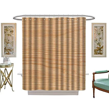 Amazon Luvoluxhome Shower Curtains Fabric Plate Of White Oak