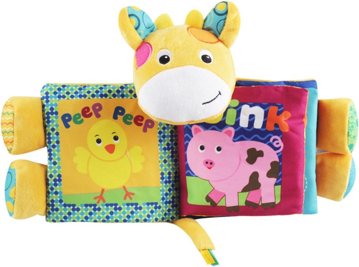 Cartoon Deer TOYMYTOY Puzzle Animaux Tissu Livre B/éb/é Jouets Tissu D/ébut D/éveloppement Livres Cadeaux pour B/éb/és